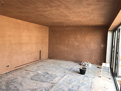 Plastering After